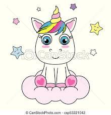 imagenes de unicornios en caricatura lindo unicornio caricatura nube sentado vector eps buscar
