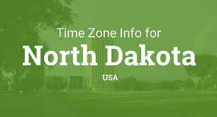 North American Time Zones Map by Time Zones In North Dakota United States