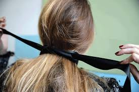 hair ribbon to try the choker that is also a hair bow repeller