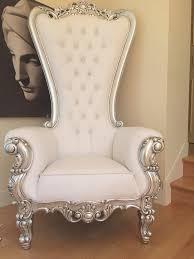 White Chair Absolom Roche Chair Silver U0026 White Leatherette Client Photo
