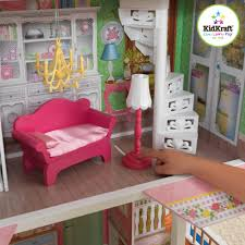 girls dollhouse bed kidkraft sweet savannah wooden dollhouse with 13 pieces of