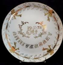 50th anniversary plate lefton plate 58 listings