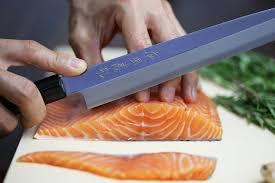 yoshihiro vg 10 hongasumi stainless steel yanagi sushi chef knife