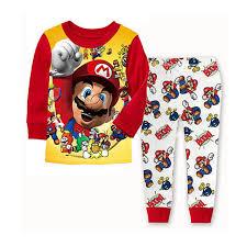 mario pyjamas 2 pcs set birthday gift baby