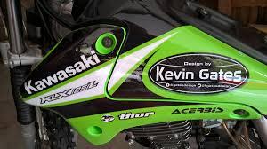 kawasaki motocross helmets kawasaki klx 125 l custom graphics kit on behance