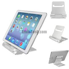 portable foldable aluminium desk stand holder for ipad iphone 6