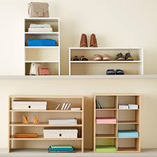 Shoe Shelves For Wall 2 Shelf Shoe Stacker The Container Store