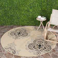 Large Indoor Outdoor Rugs Large Outdoor Rugs Safavieh Courtyard Black