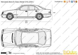 mercedes length the blueprints com vector drawing mercedes e class w210