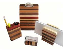 Wooden Desk Accessories Desk Set