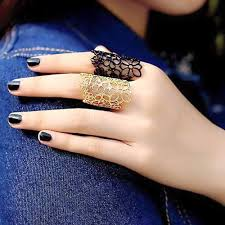 beautiful hand rings images Beautiful hand rings nail polish dp on we heart it jpg