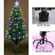 pre lit christmas tree led fibre optic prelit light up xmas home