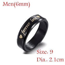 simple metal rings images Simple steel titanium forever love couple rings getthedeals jpg