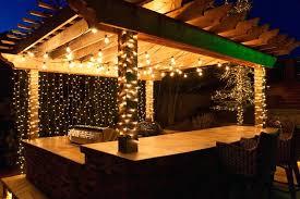 Patio Lighting Strings Charming Patio Light Strings Backyard Terrace With Clear Bulbs