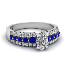 engagement rings with blue stones customize blue sapphire side engagement rings fascinating