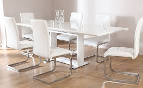 kitchen furniture perth tokyo white high gloss extending dining table and 6 chairs set