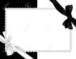 Whit Picture Border White And Black Whit Silk Bow Stock Photo Picture