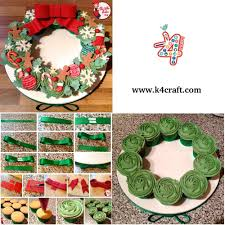diy food christmas wreath step by step tutorial k4 craft