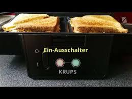 Krups Sandwich Toaster Der Krups Sandwichmaker Youtube