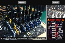 bitcoin x4 review biostar goes mining new tb250 btc pro motherboard and rx 470d