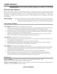legal administrative assistant resume sample best images on ideas