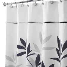 amazon com interdesign leaves x long shower curtain black and