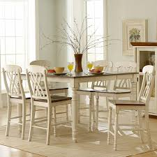 home styles monarch 7 piece dining table set with 6 double x back