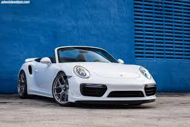 porsche white clean white porsche 911 turbo s convertible gets hre wheels my