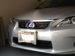 lexus calgary ct200h front plate and bumper protector photo attached