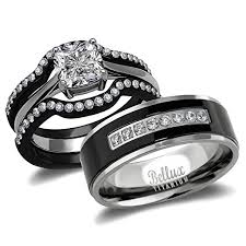 wedding rings sets for his and his and hers wedding ring sets couples matching rings