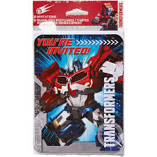 transformer party favors transformers invite and thank you combo 8 pack party supplies
