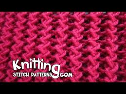 zig zag knitting stitch pattern zig zag rib stitch youtube