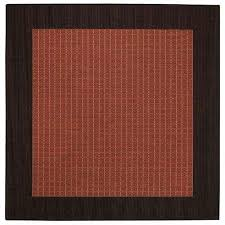 Outdoor Rug Square Square Solid Gradient Outdoor Rugs Rugs The Home Depot