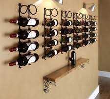 wrought iron wine bottle rack modular wall mounted black premium