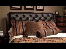 Leather Sleigh Bed Grand Estates Tufted Leather Sleigh Bed By Fairmont Designs Youtube