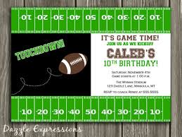 printable football birthday invitation kids sports birthday