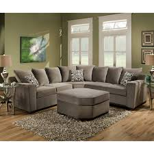 sofa gray leather sectional double chaise sectional small
