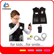 swat police play toy set kids dress up police uniform with plastic