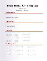 Free Printable Resume Templates Blank 26 Blank Resume Templates To Print 40 Blank Resume Templates Free