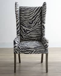 zebra wingback dining chair ideas simple wingback dining chair