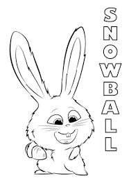 pets coloring page snowball from the secret life of pets coloring page free