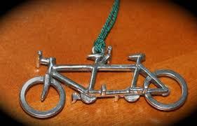 tandem bicycle ornament tandem bike ornament