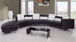 home design living luxury black leather room furniture set with
