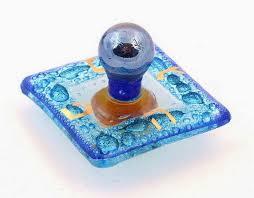 glass dreidel blue hanukkah dreidel fused glass sevivon 2 judaica handmade