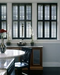 interior plantation shutters home depot home depot plantation shutters dining room traditional with black