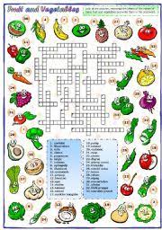 fruit and vegetables 3 of 3 crossword