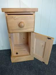 Narrow Pine Bookcase by Pine Door U0026 Drawer Narrow Bedside Bedside Cabinets Pine Oak
