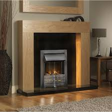 light oak electric fireplace electric oak wood fireplace surround suite silver inset freestanding