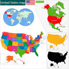 Alaska And Usa Map by Colorful Usa Map With States And Capital Cities Royalty Free