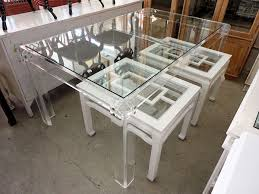 dining room amazing lucite table as the choice for your tables